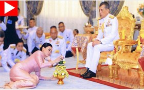 ازدواج پادشاه تایلند با محافظ شخصیاش!