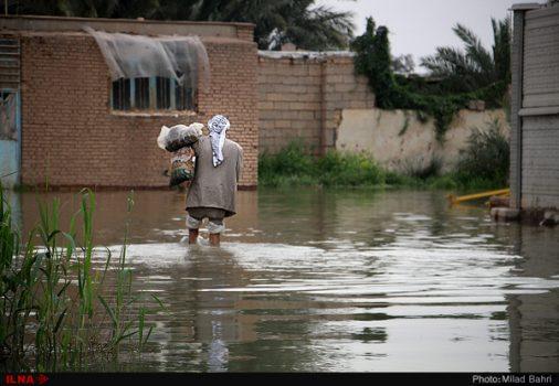 برخی روستاهای شادگان در  سیل بین ۸۰ تا ۱۰۰ درصد خسارت دیدند