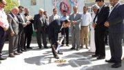 کلنگ آموزشگاه ۳ کلاسه حضرت زهرا (س) در حمیدیه به زمین زده شد