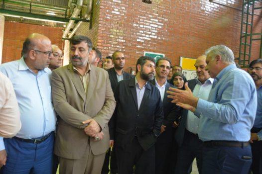 بازدید رئیس سازمان حفاظت محیط زیست  از اولین کارخانه بازیابی گاز بیو دی اکسید کربن کشور در خوزستان
