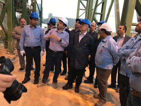 بازدید معاون وزیر صنعت از روند تولید در کارخانه فولاد جهان آرای اروند