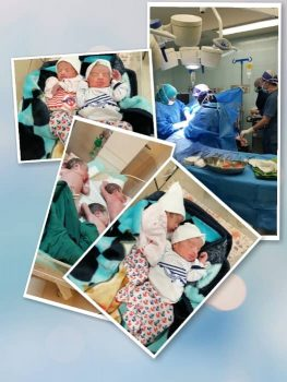 زایمان موفقیت آمیز ۳قلوها در بیمارستان شهید بهشتی آبادان