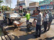 آهکپاشی، شستوشوی معابر و لایروبی در آبادان