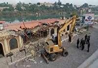 تخریب یک رستوران ساحلی در حریم رودخانه شطیط شوشتر