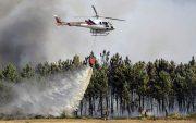 اعزام بالگرد آبپاش برای مهار آتش در مرز خوزستان و کهگیلویهوبویراحمد